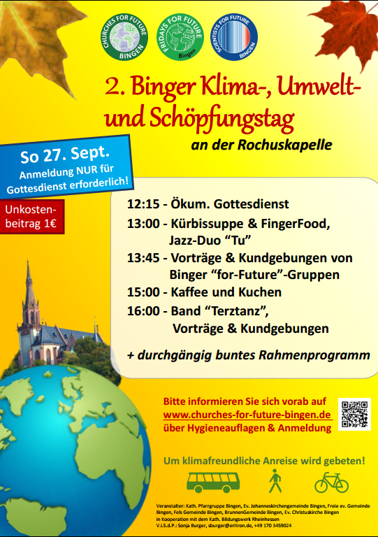 2. Klima- Umwelt und Schöpfungstag – 27.09.